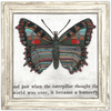 Butterfly Art Print - Sugarboo and Co - White Wash Frame