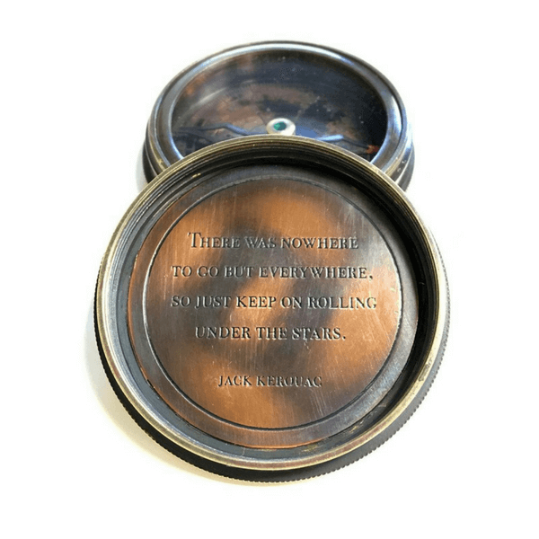 Engraved Compass - Jack Kerouac - Sugarboo and Co