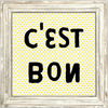 C'est Bon - Sugarboo and Co Art Print - White Wash Frame