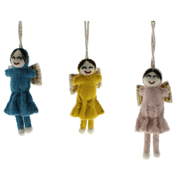 Felt Angel Ornaments - Set of 3 - Sugarboo and Co