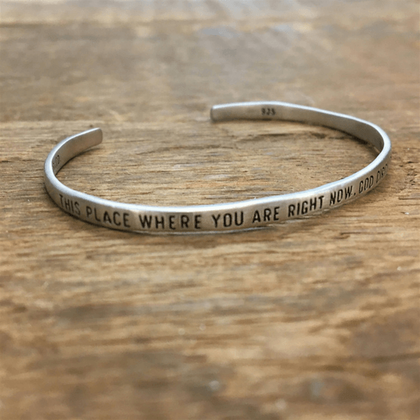 Sterling Silver Cuff - This Place Where You Are - Sugarboo and Co