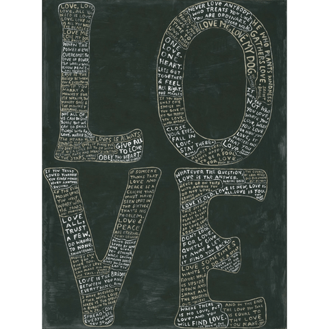 L-O-V-E Art Print - Gallery Wrap - Sugarboo and Co