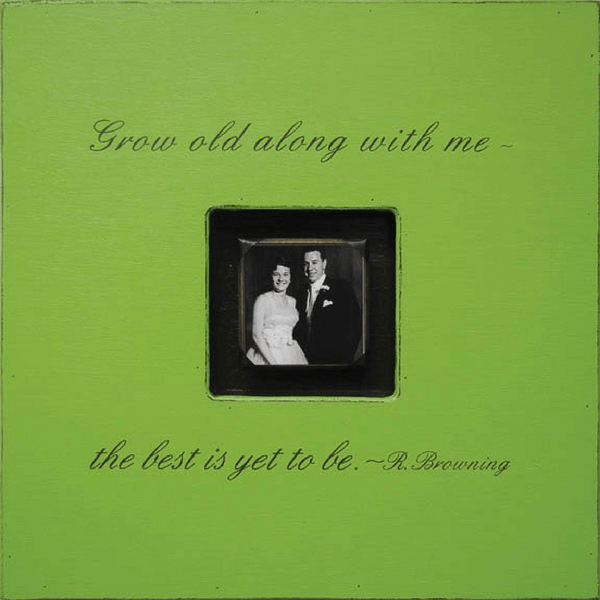 Grow Old Along With Me Photobox - Sugarboo and Co - Apple Green