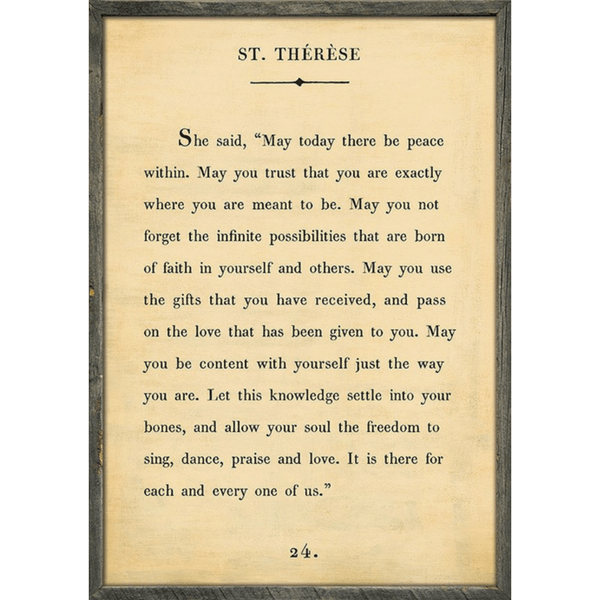 St. Therese - Book Collection - Sugarboo and Co - Cream - Grey Wood Frame