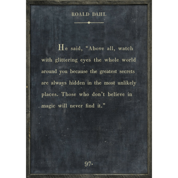 Roald Dahl - Book Collection - Sugarboo and Co - Charcoal - Grey Wood Frame