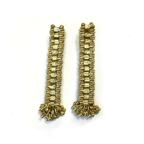 Gold Bar Drop Earrings - Sugarboo and Co
