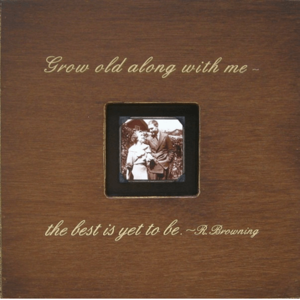 Grow Old Along With Me Photobox - Sugarboo and Co - Chocolate