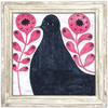 Black Bird in Flowers - White Wash Frame -  Sugarboo and Co Art Print