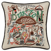Hand-Embroidered Pillow - Boston - Sugarboo and Co