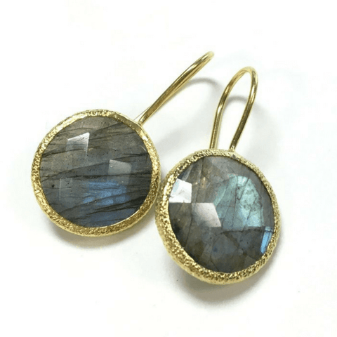 Round Labradorite Earrings - SB&Co