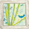 Blue Bird Left - Sugarboo and Co Art Print - White Wash Frame