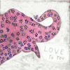 Pink elephant - Love to you - Sugarboo and Co Art Print - Gallery Wrap