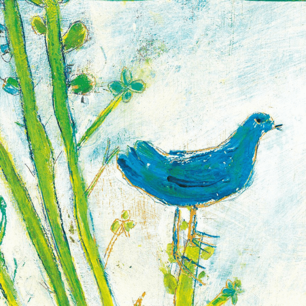 Blue Bird Right - Sugarboo and Co Art Print - Gallery Wrap