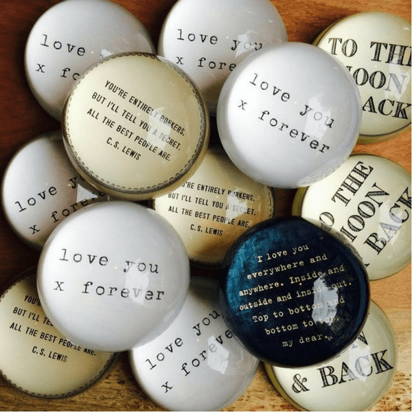 I love you everywhere - Sugarboo and Co Paperweight