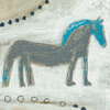 Horse with Blue Mane - Sugarboo and Co - Gallery Wrap