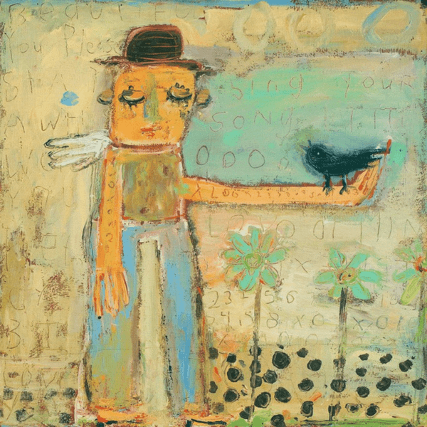 Man with Bird - Art Print - Sugarboo and Co