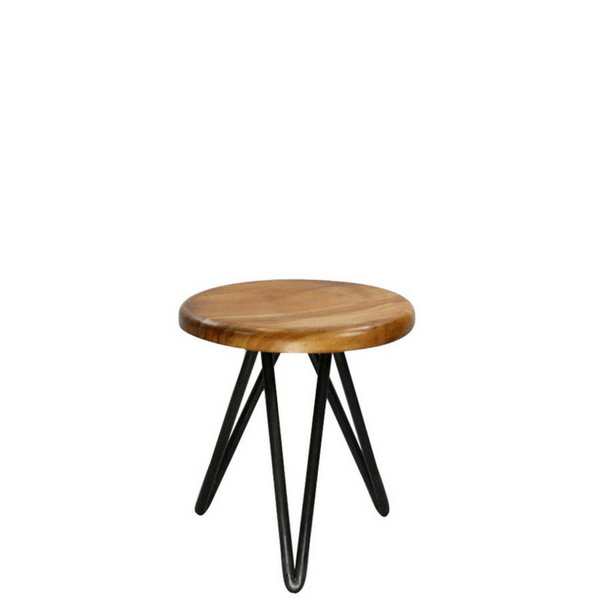 Harpoon Wood and Iron Stool - Mini Stool - Sugarboo and Co
