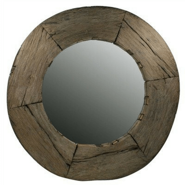 Reclaimed Wood Wheel Mirror - Sugarboo and Co