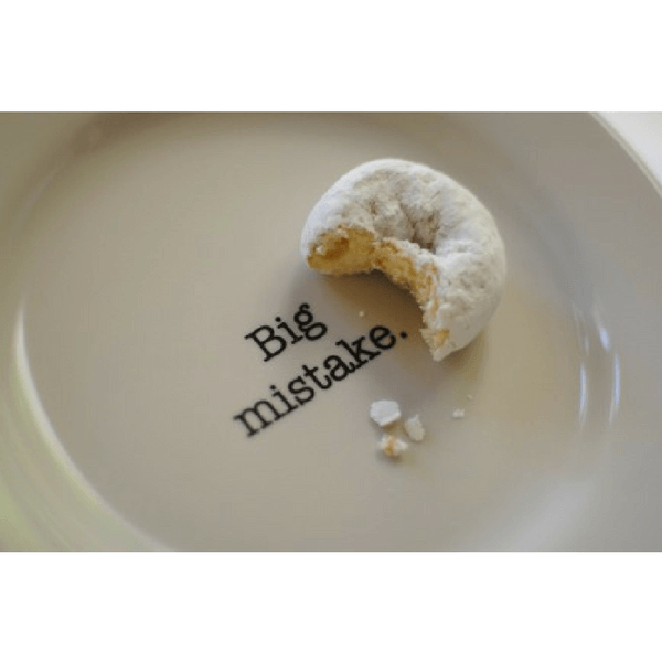 Intervention-Ware Side Plate - Big Mistake - Sugarboo and Co
