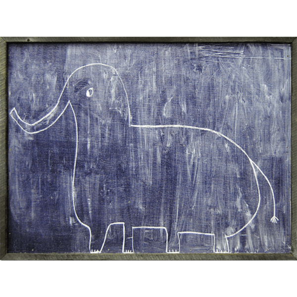 Sophie's Elephant - Sugarboo and Co Art Print - Grey Wood Frame