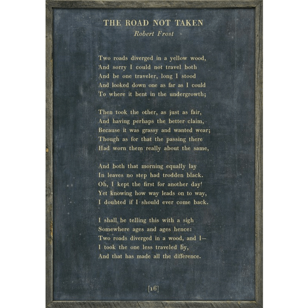 image regarding The Road Not Taken Printable known as Poetry Choice Collection Sugarboo Co