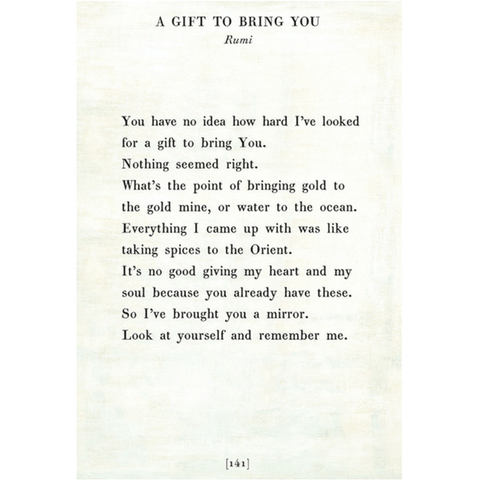 A Gift to Bring You - Rumi - Sugarboo and Co Poetry Collection - White - Gallery Wrap