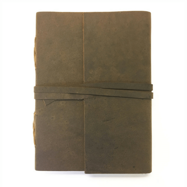 Brown Leather Wrap Journal - Sugarboo and Co