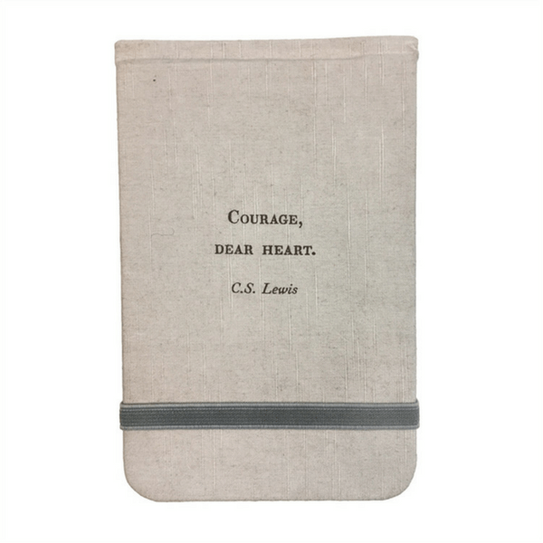 Fabric Notebook - Courage Dear Heart - Sugarboo and Co