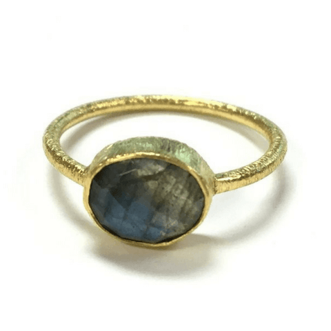 Oval Labradorite Ring - Sugarboo and Co