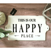 This is Our Happy Place - Enamel Sign - Sugarboo and Co