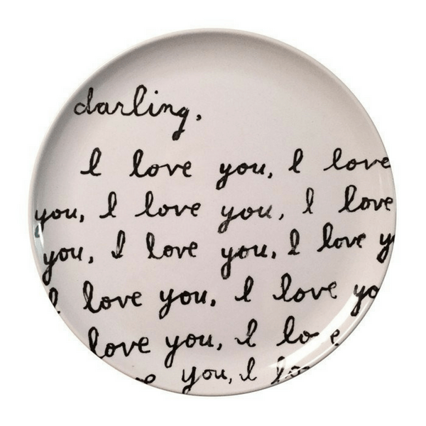 Sugarboo Art Print Melamine Plates - Darling I Love You - Sugarboo and Co