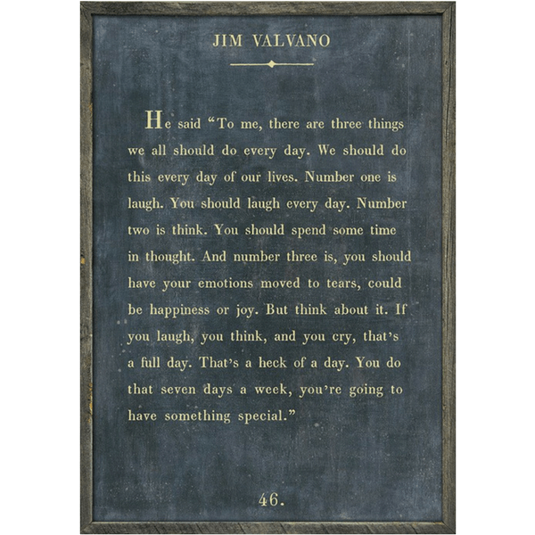 Jim Valvano - Book Collection - Sugarboo and Co - Charcoal - Grey Wood Frame