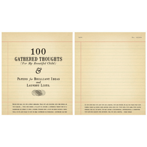 100 Gathered Thoughts Notepad - For My Beautiful Child - Sugarboo and Co