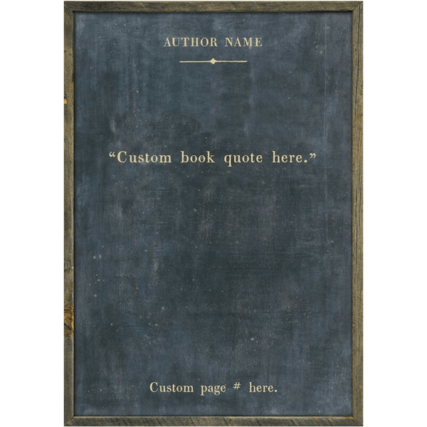 Custom Book Collection Print - Sugarboo and Co - Charcoal