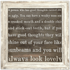 Always Look Lovely - Sugarboo and Co Art Print - White Wash Frame