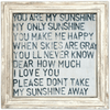 You are my Sunshine - Art Print - Sugarboo and Co - White Wash Frame