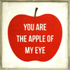You Are the Apple of My Eye - Grey Wood frame - Sugarboo and Co Art Print