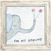 For My Darling Art Print - Sugarboo and Co - White Wash Frame