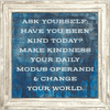 Ask Yourself - Sugarboo and Co Art Print - White Wash Frame