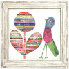 Flower and Bird Art Print - Sugarboo and Co - White wash frame