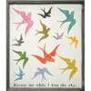 Excuse Me While I Kiss The Sky - Art Print - Grey Wood Frame - Sugarboo and Co