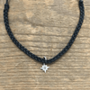 Braided Adjustable Pendant Bracelets - Black Star - Sugarboo & Co