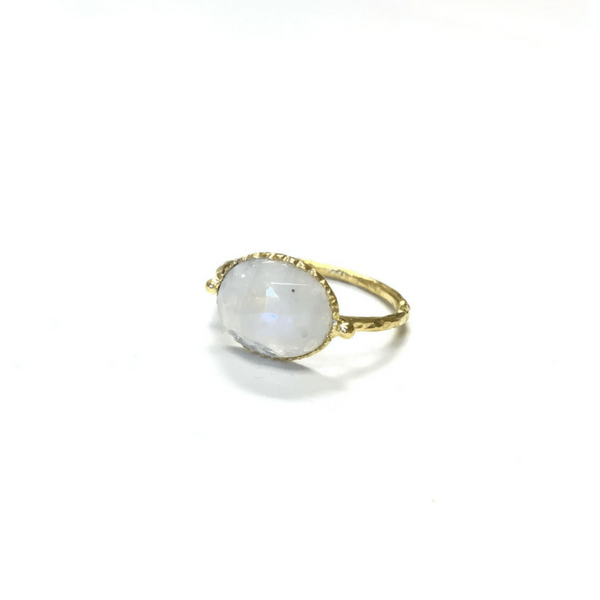 White Rainbow Moonstone Ring - Sugarboo and Co