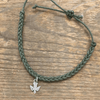 Braided Adjustable Pendant Bracelets - Green Bird - Sugarboo & Co