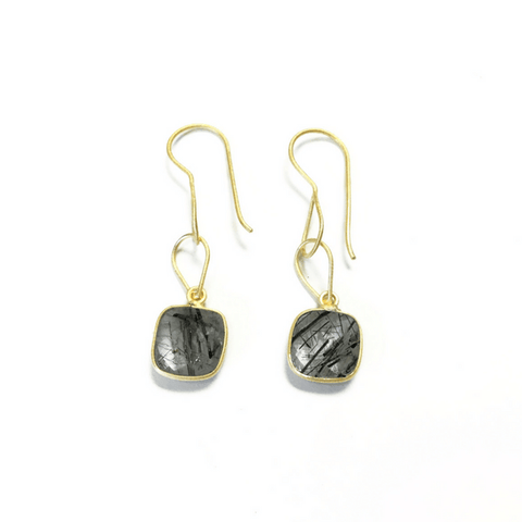 Gold-Plated Sterling Silver Quartz Earrings - Sugarboo and Co