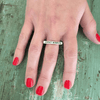 Sterling Silver Bar Ring - Expect Miracles - Sugarboo and Co