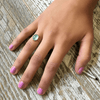 Aqua Chalcedony Ring - Sugarboo and Co