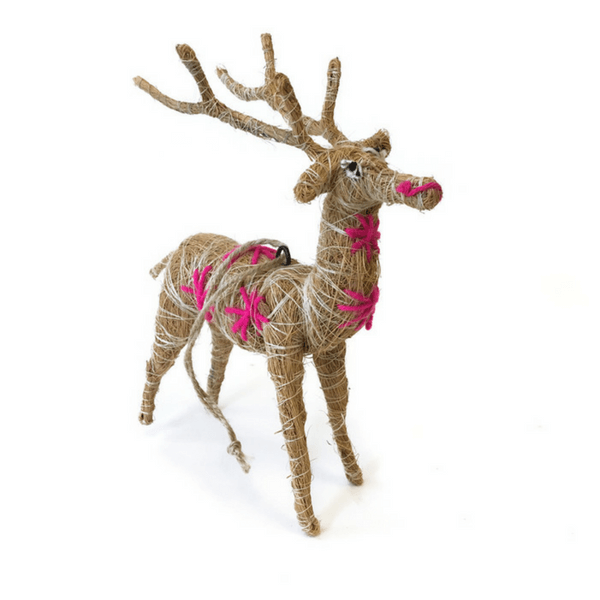 Jute Reindeer Ornament - Sugarboo and Co