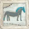 Horse with Blue Mane - Sugarboo and Co - White Wash frame