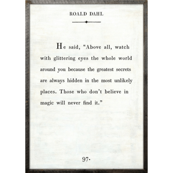 Roald Dahl - Book Collection - Sugarboo and Co - White - Grey Wood Frame